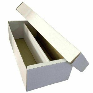 BCW 1600 ct Cardboard Baseball Card 2-Row Box